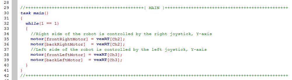 Robotc sample code vex